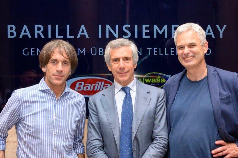 Davide Oldani, Paolo Barilla and Pietro Leemann